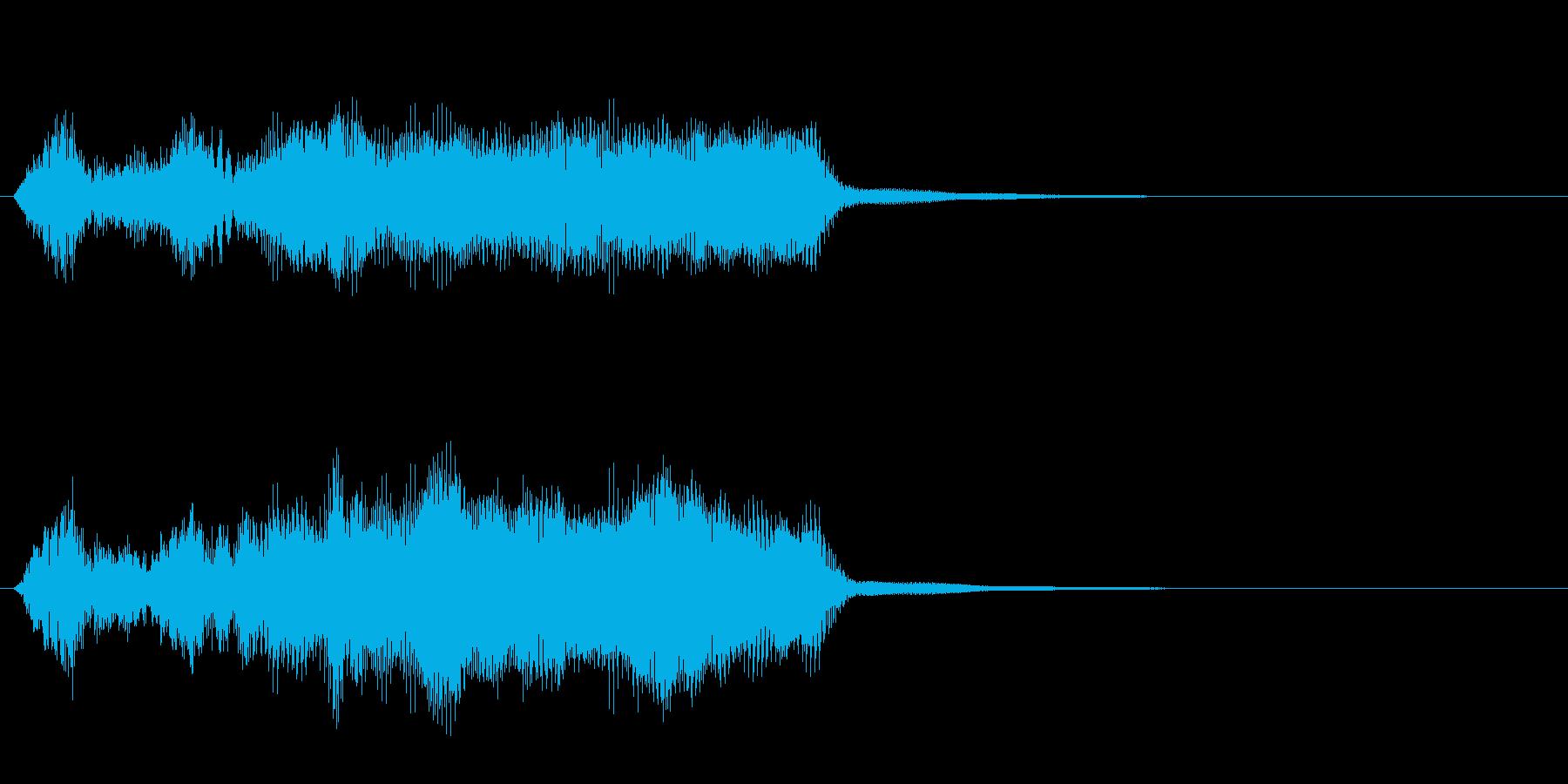 軍隊4 ノーマルカード入手 正解の再生済みの波形