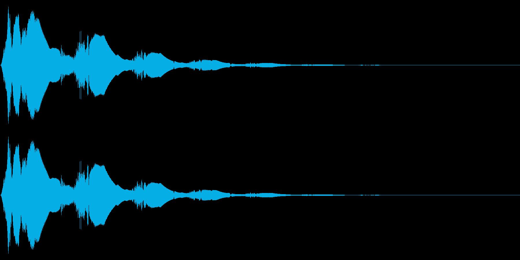 ボタン押下や決定音_キュピリリン!の再生済みの波形