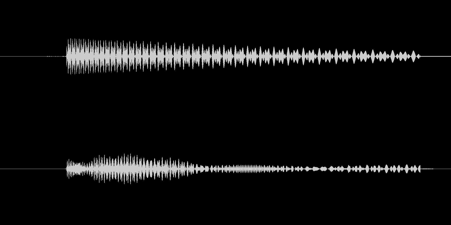 カーソルボタン(キャンセル音)の未再生の波形