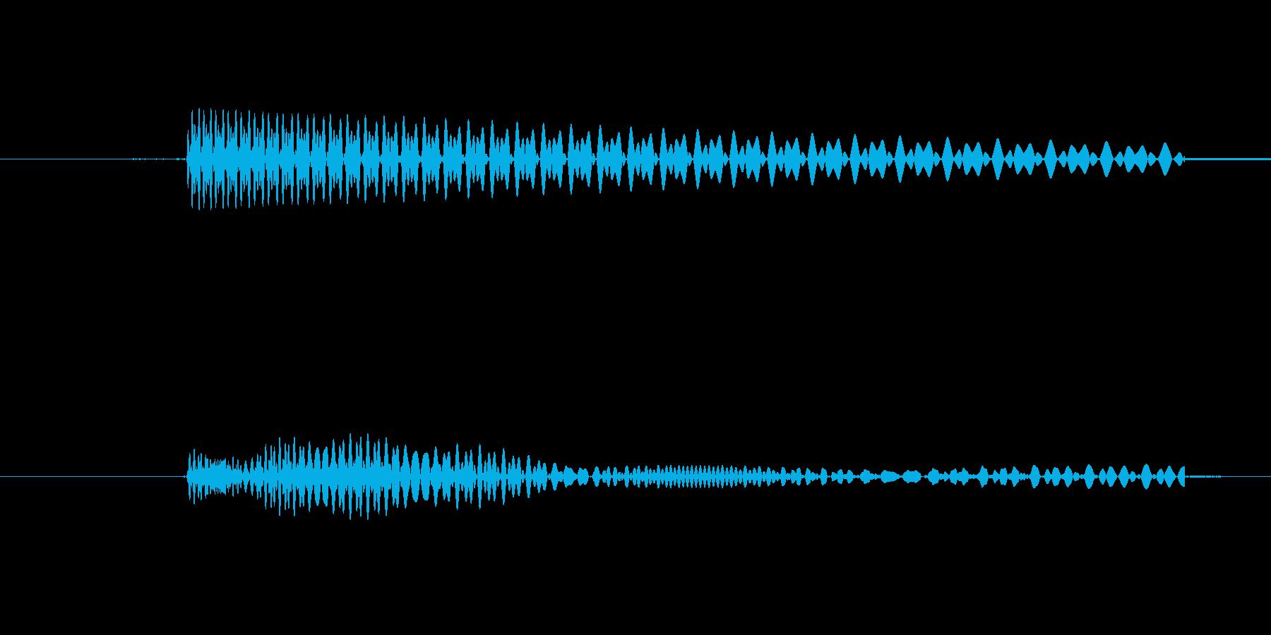 カーソルボタン(キャンセル音)の再生済みの波形