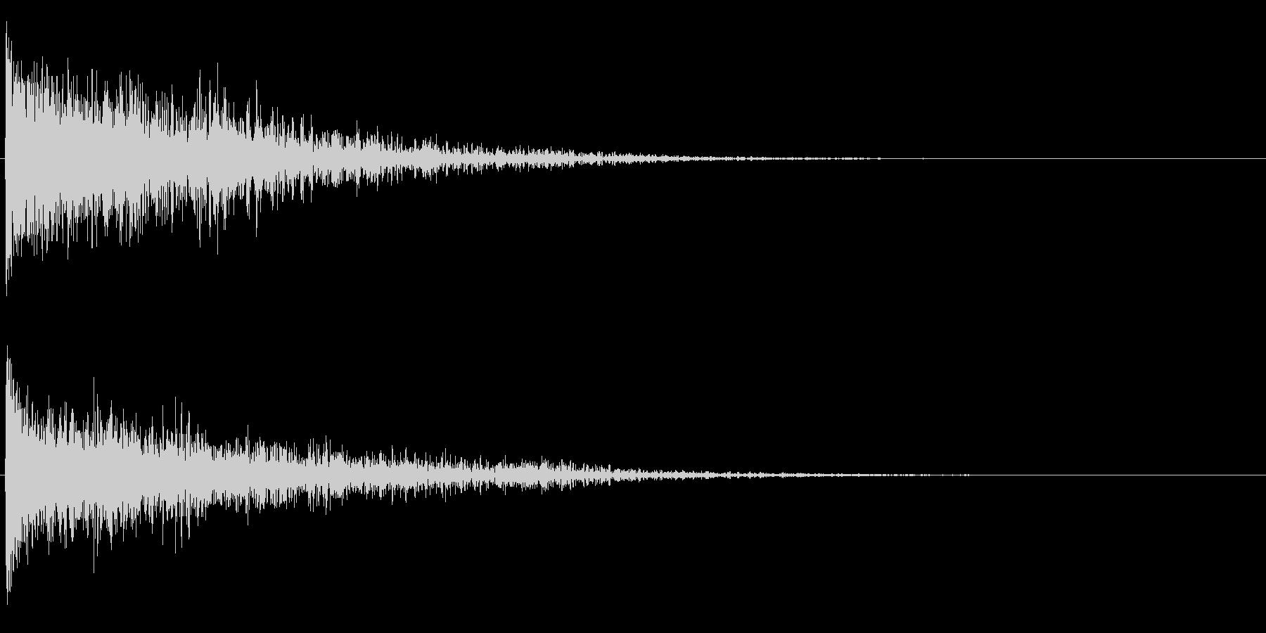 切り替え、驚き、爆発など効果音の未再生の波形