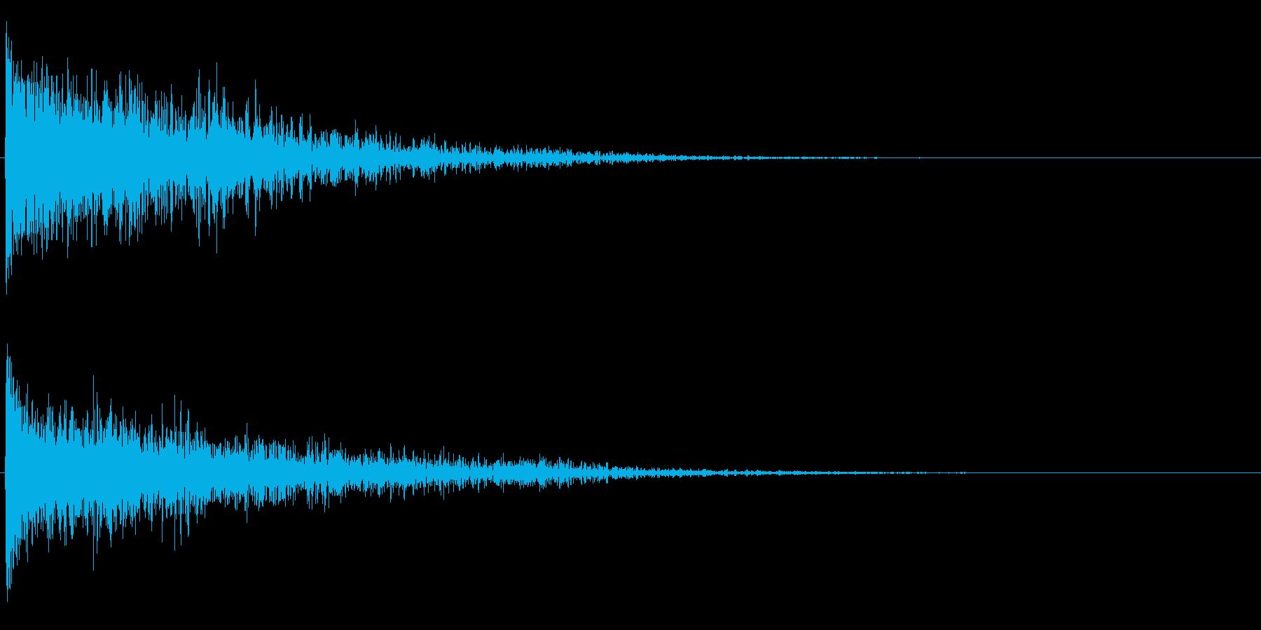 切り替え、驚き、爆発など効果音の再生済みの波形