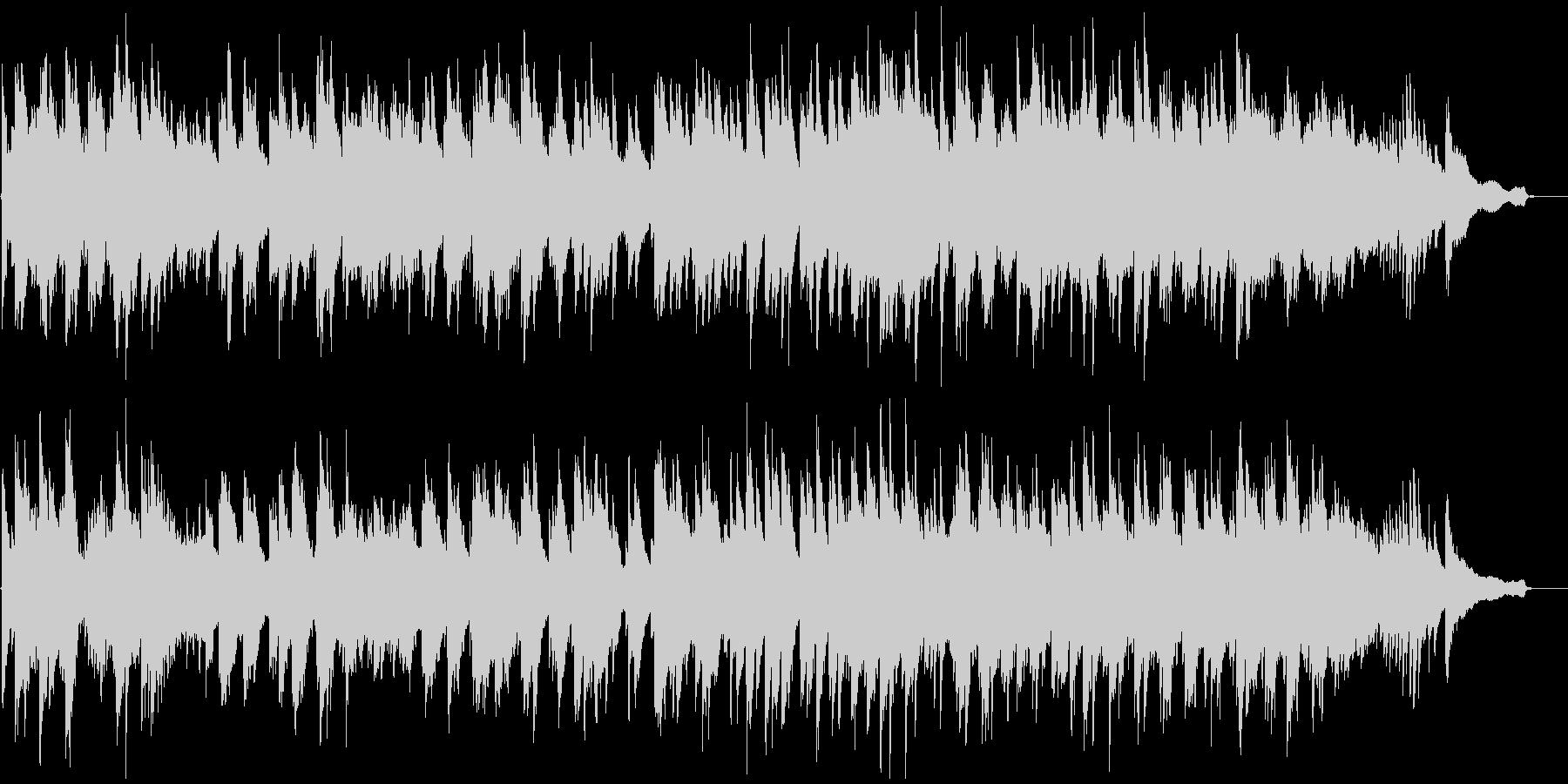 前抜きな明るいピアノソロの未再生の波形