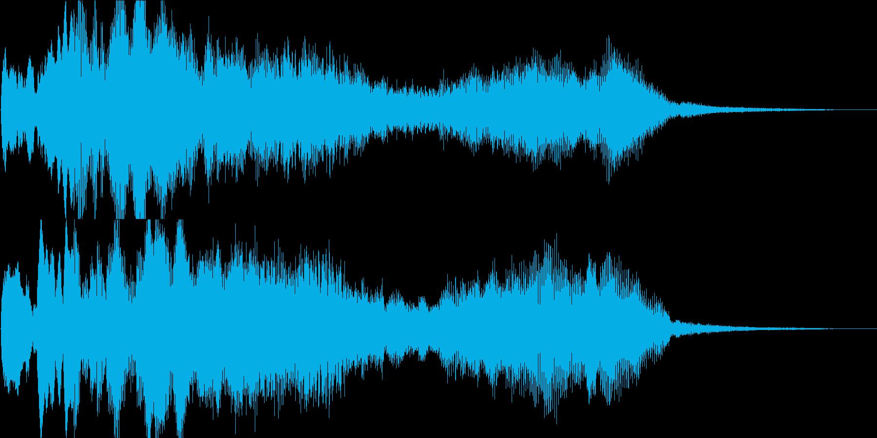 多用途な動画イン・アウトロ用ジングル2の再生済みの波形