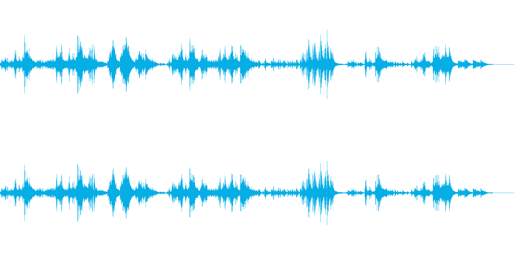 ほのぼのとあたたかいピアノの再生済みの波形