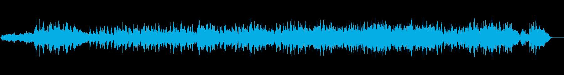 しっとりとして落ち着いたジャズバラードの再生済みの波形