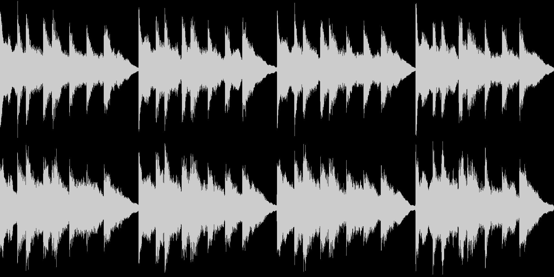 シンプル ベル 着信音 チャイム A15の未再生の波形