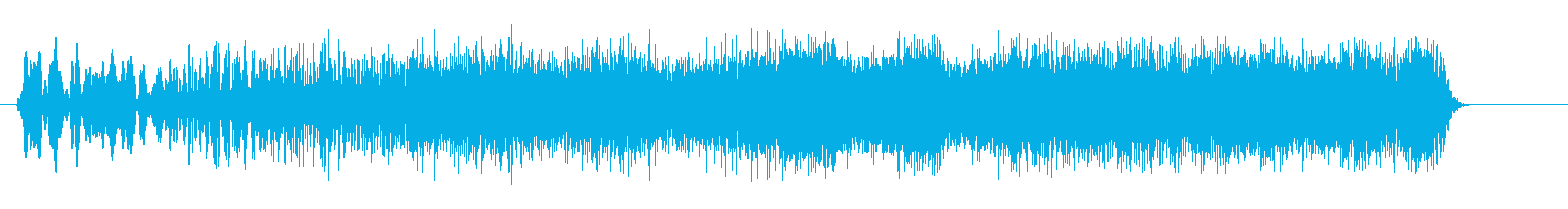 キュワキュワーン(アップ系)の再生済みの波形