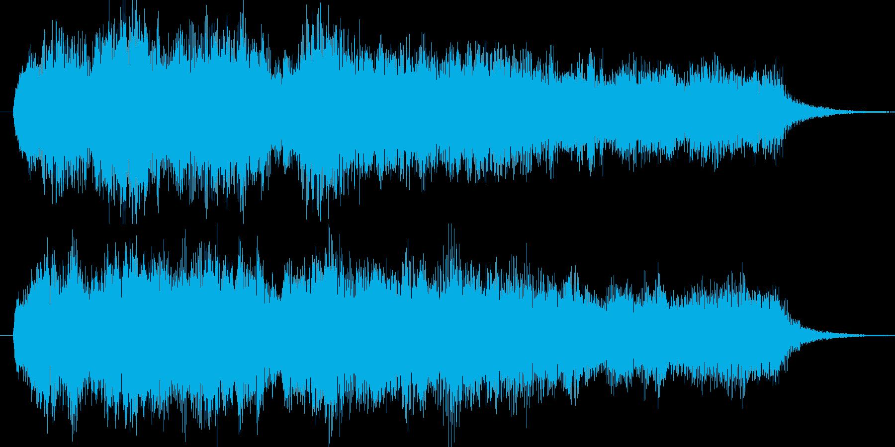 ジングル オーケストラ風 重厚の再生済みの波形