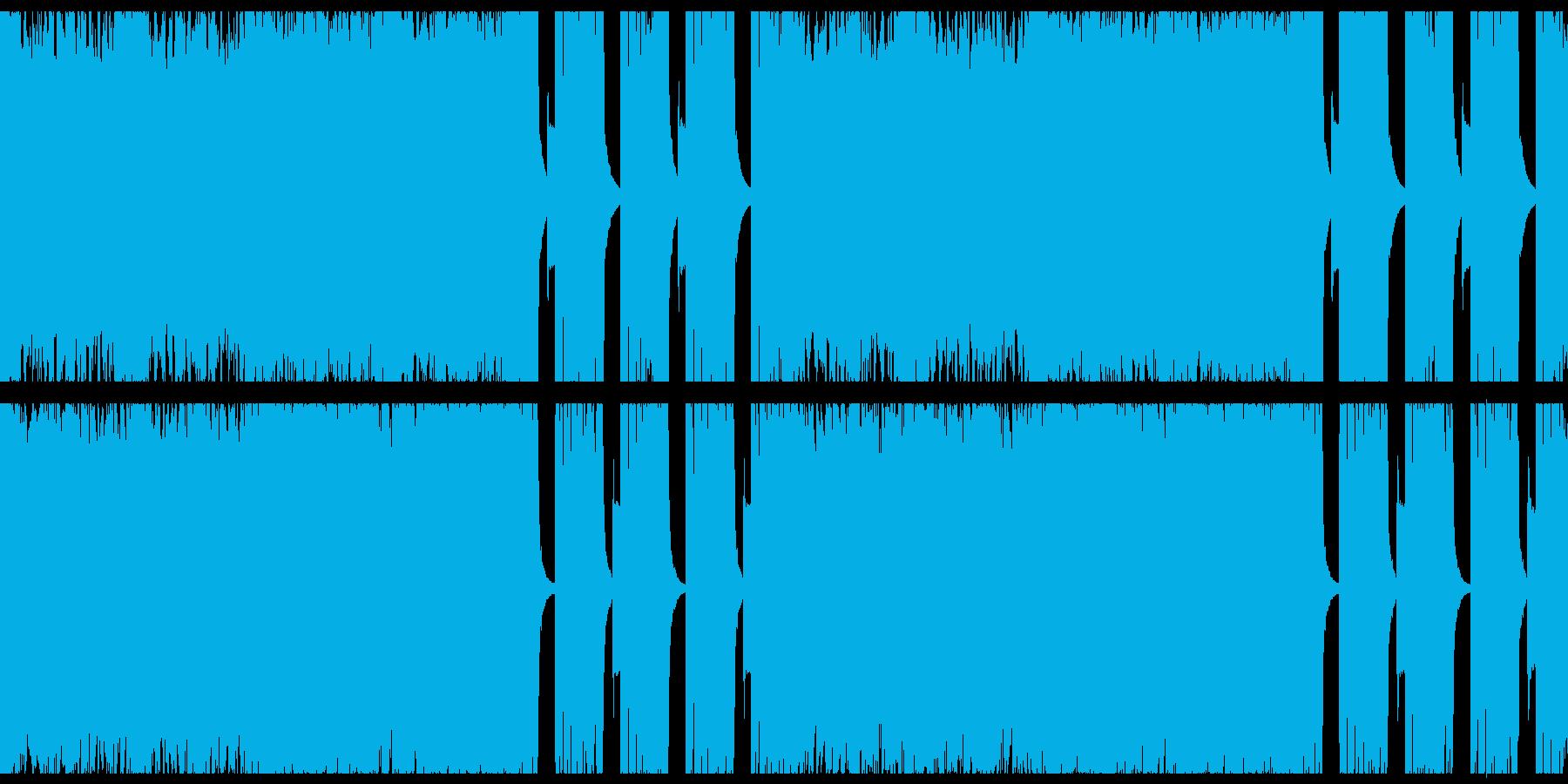 ダークな重低音ギターのヘヴィロックの再生済みの波形