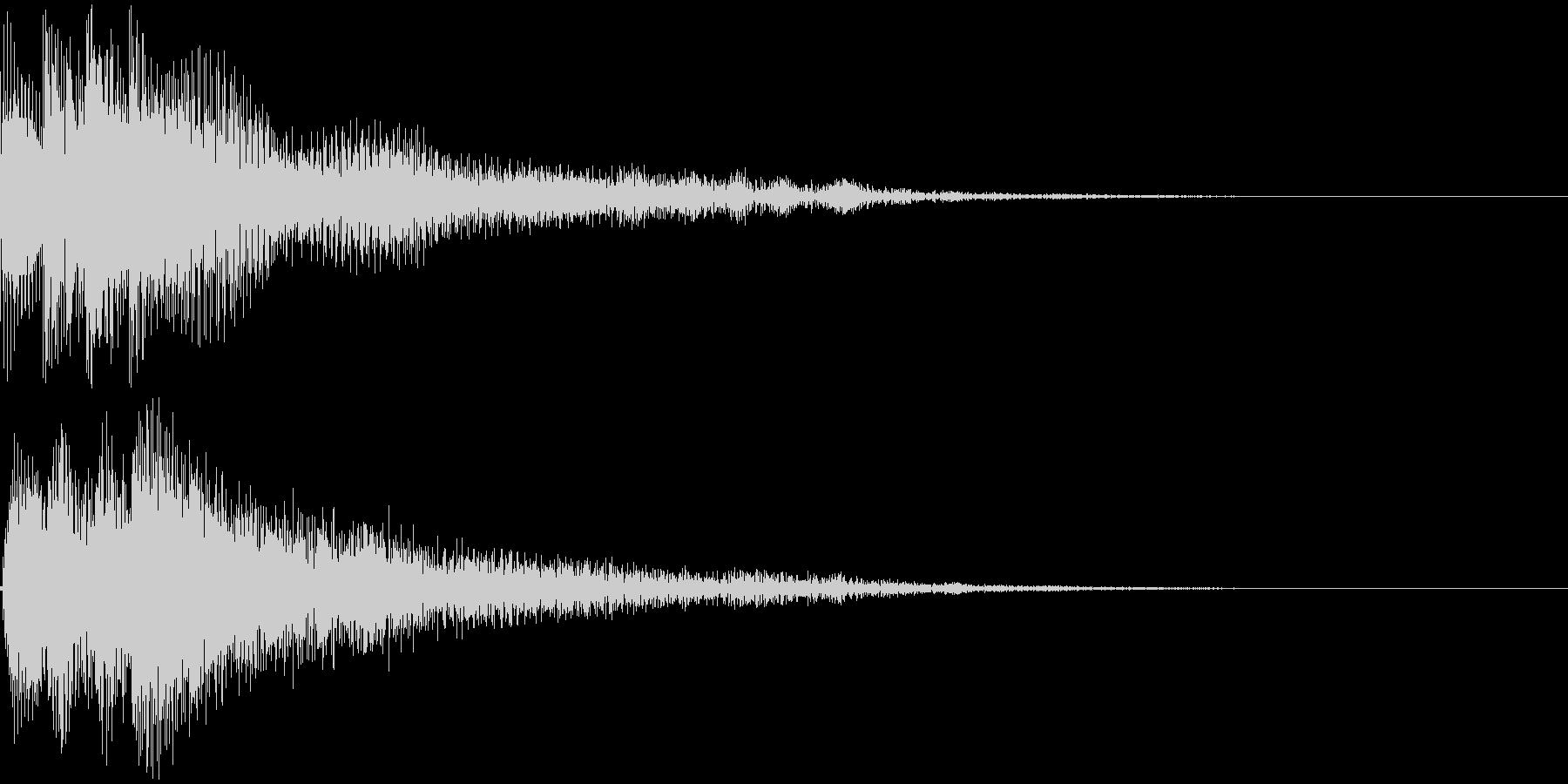 和風ボタン音、決定音の未再生の波形