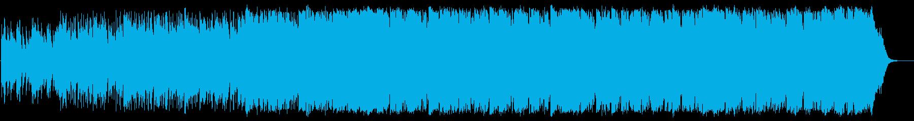 わくわくする軽快なポップスの再生済みの波形