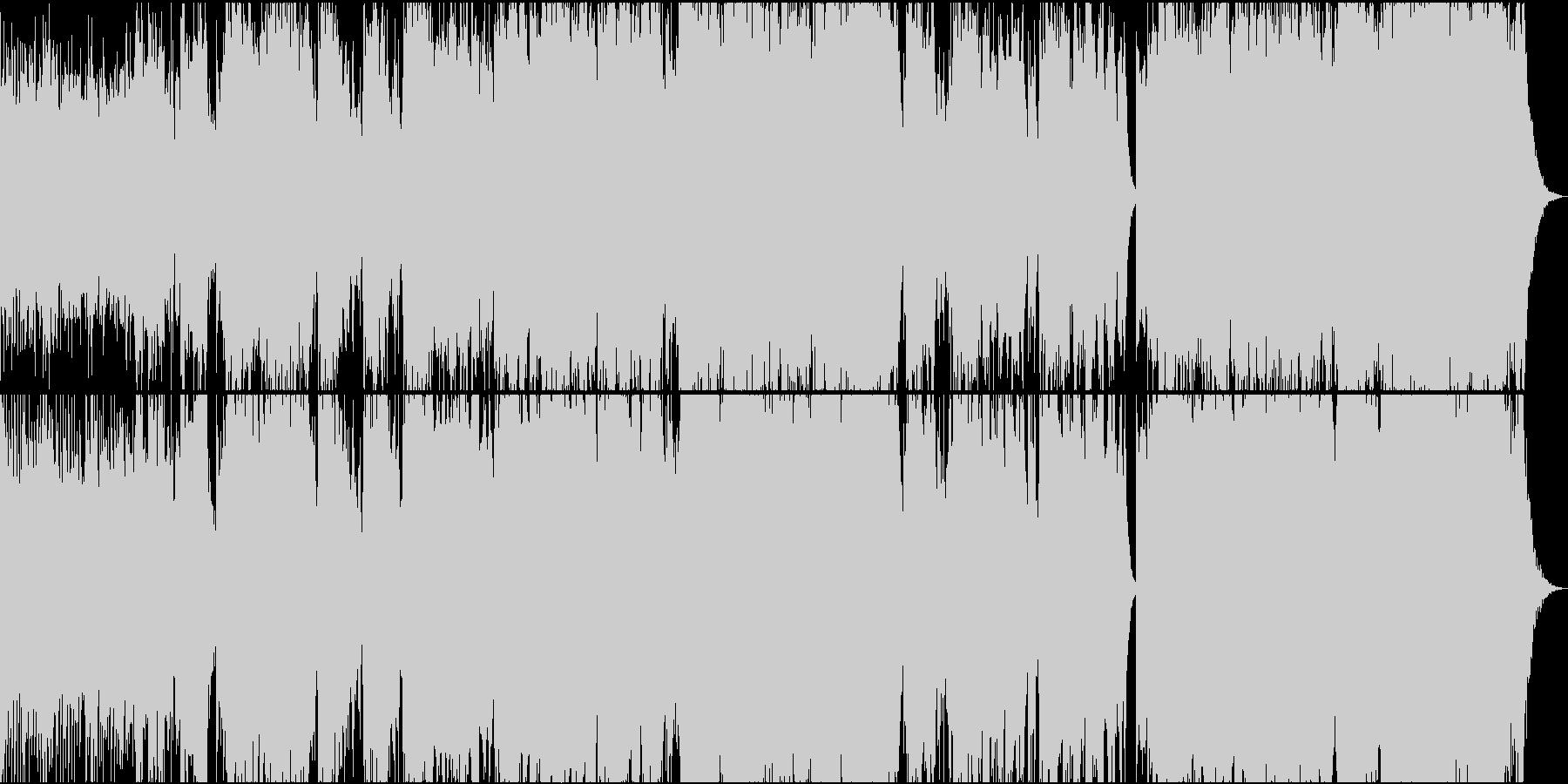 二胡(生演奏) 朝焼けをイメージした曲の未再生の波形