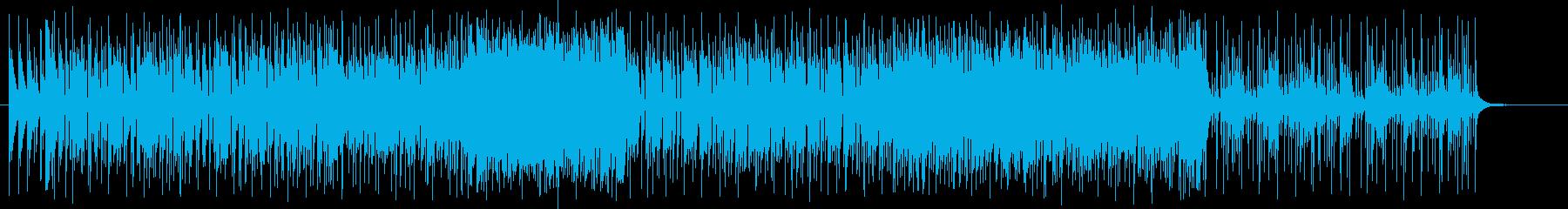 ギターのロックの再生済みの波形
