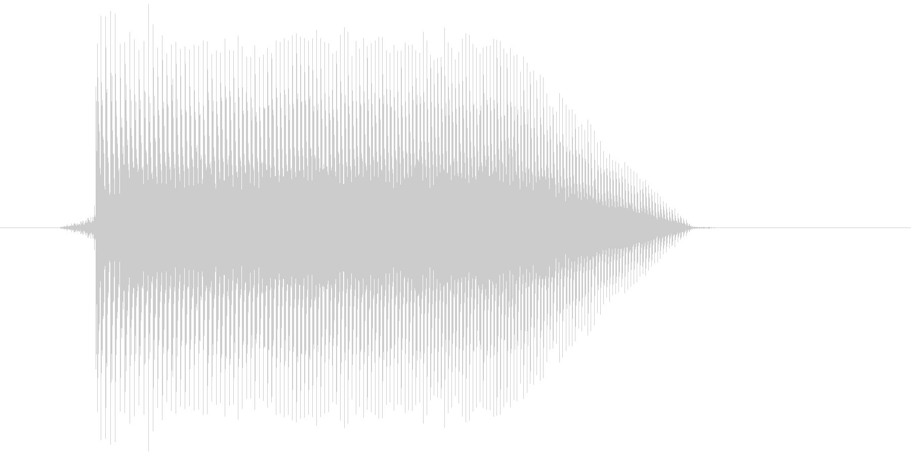 ゲーム(ファミコン風)ジャンプ音_038の未再生の波形