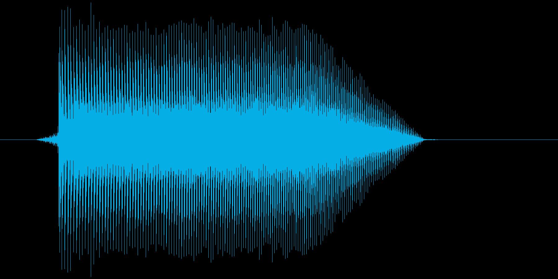 ゲーム(ファミコン風)ジャンプ音_038の再生済みの波形