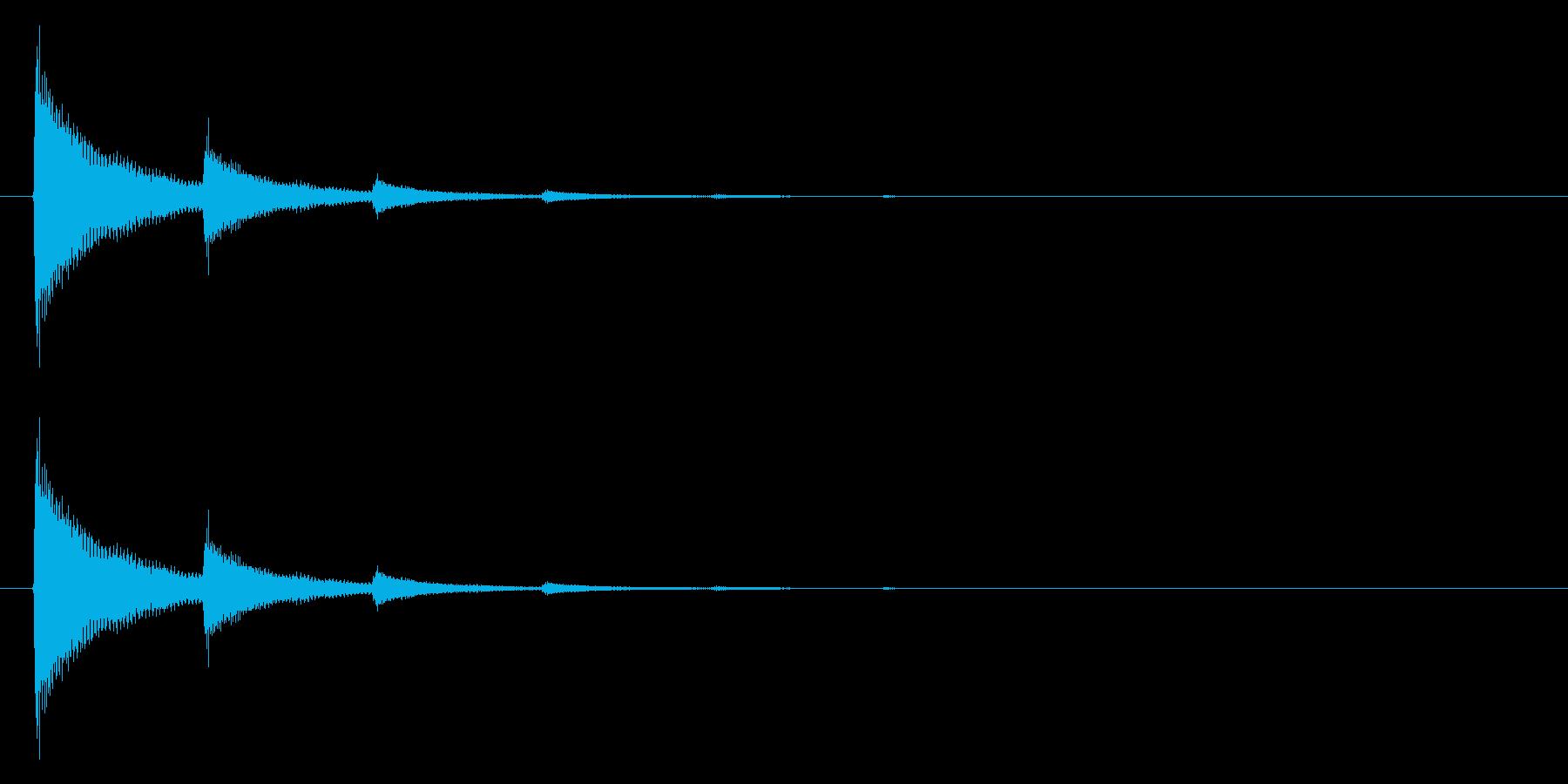 ティン・・・(テロップ、注目等)の再生済みの波形