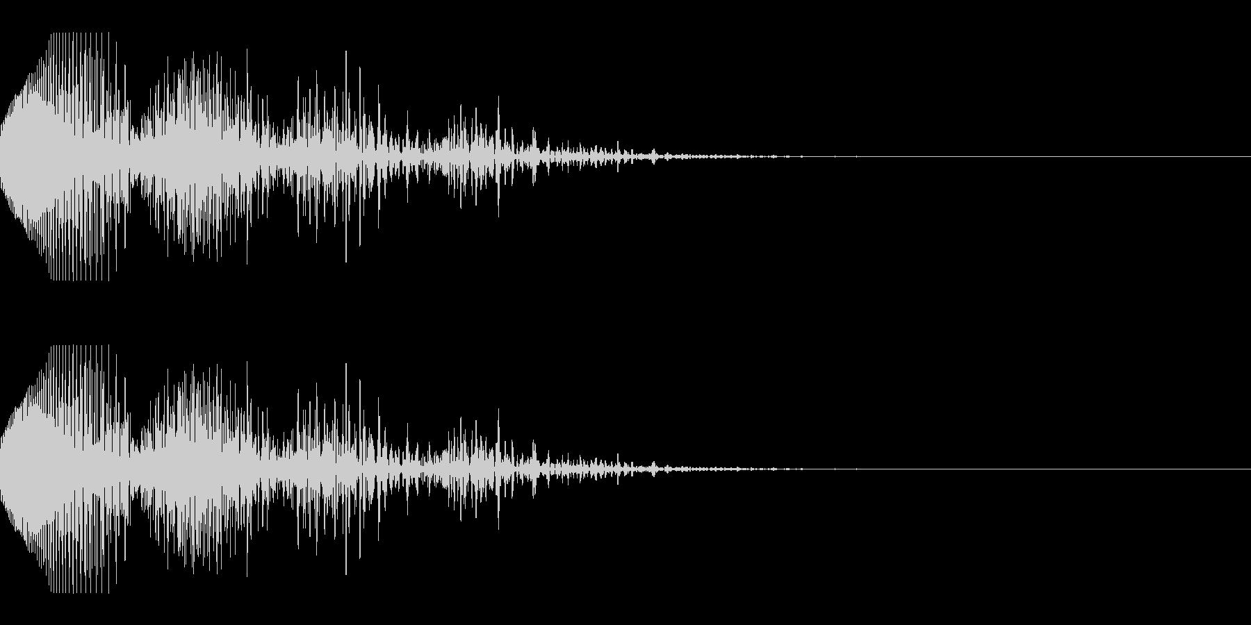 失敗・ミスをしたときの効果音_03の未再生の波形