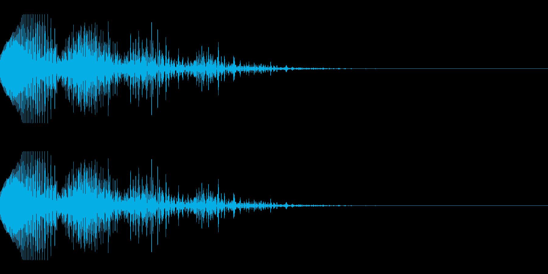失敗・ミスをしたときの効果音_03の再生済みの波形