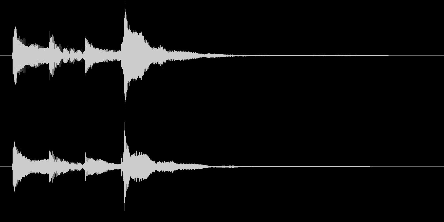 ハープのジングルの未再生の波形