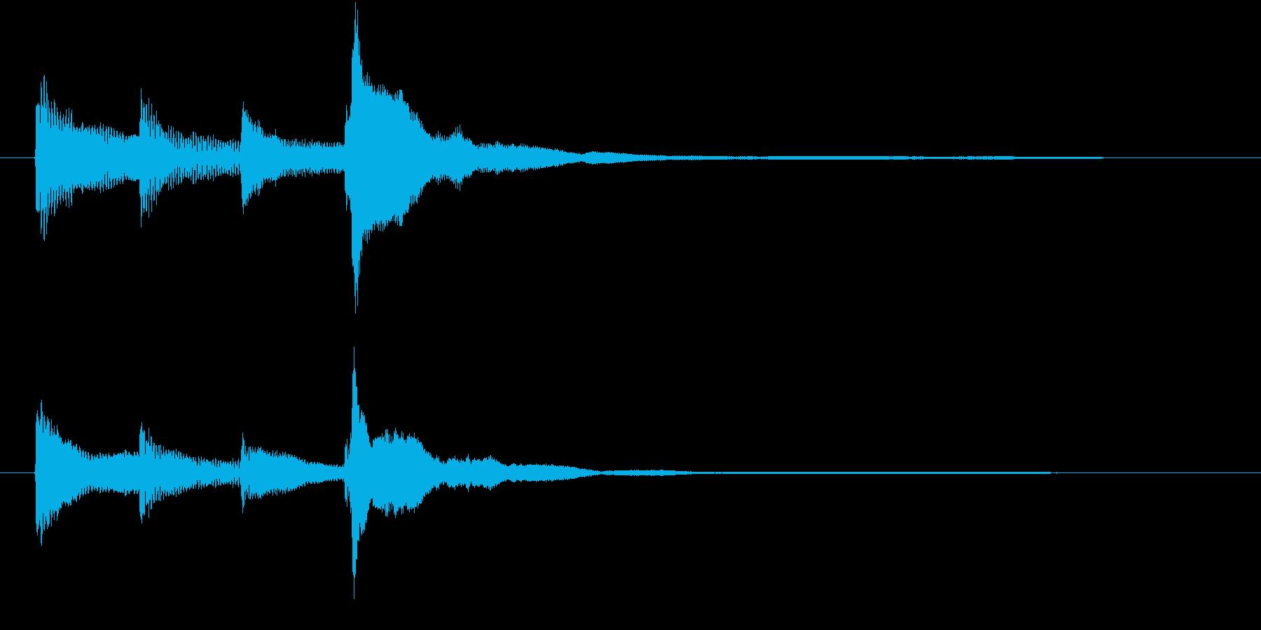 ハープのジングルの再生済みの波形