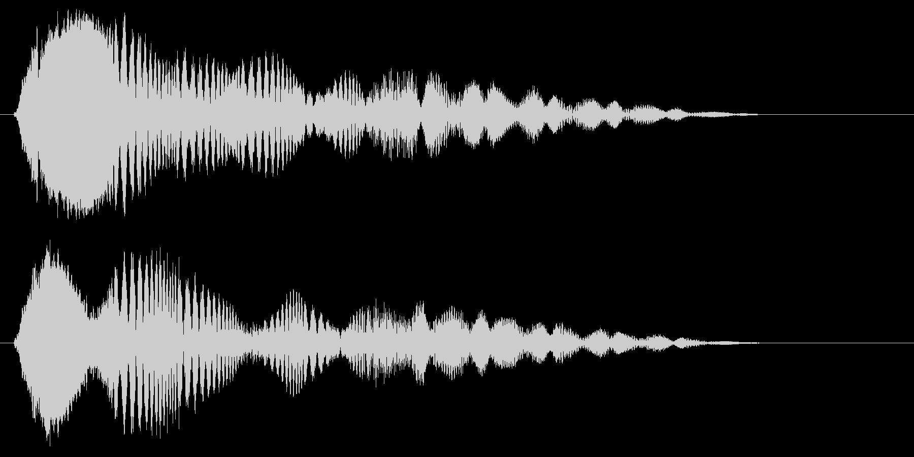 ピリピョ〜ン、ピョ〜ン(コミカル効果音)の未再生の波形