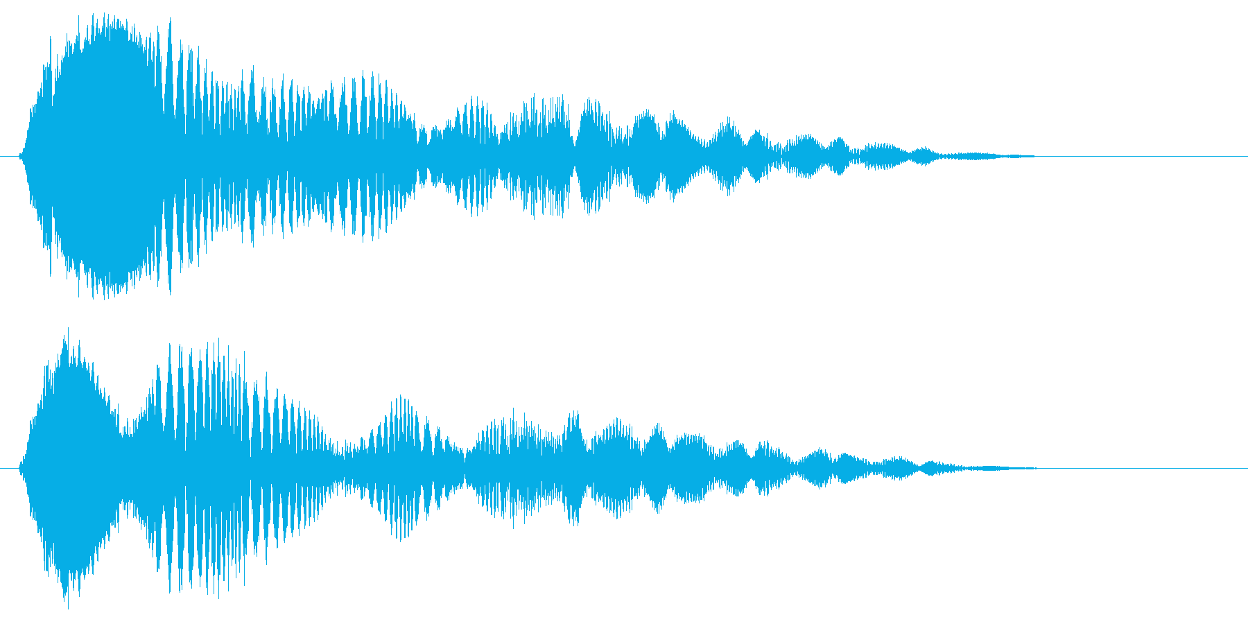 ピリピョ〜ン、ピョ〜ン(コミカル効果音)の再生済みの波形