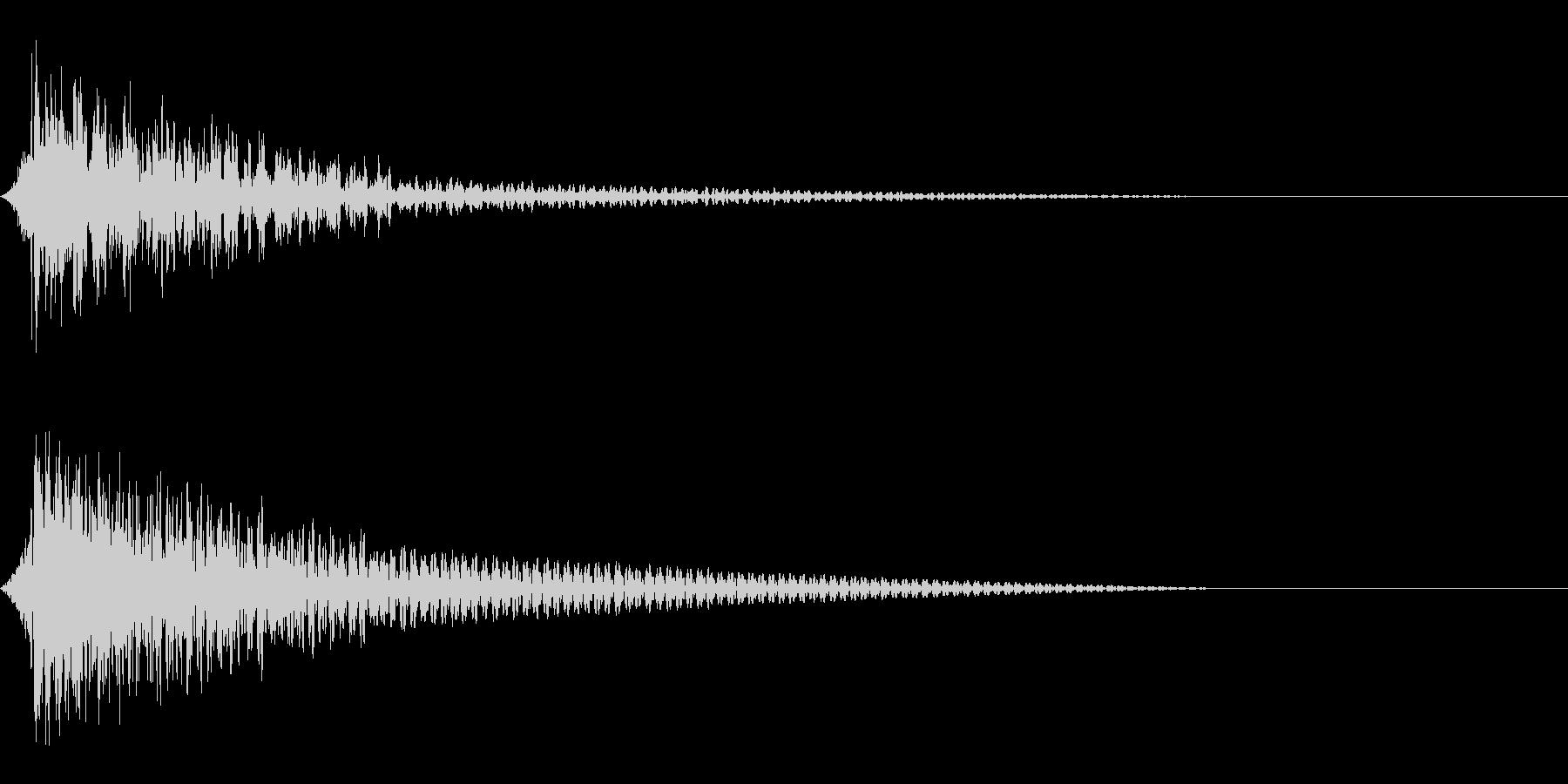 ホラー系アタック音97の未再生の波形