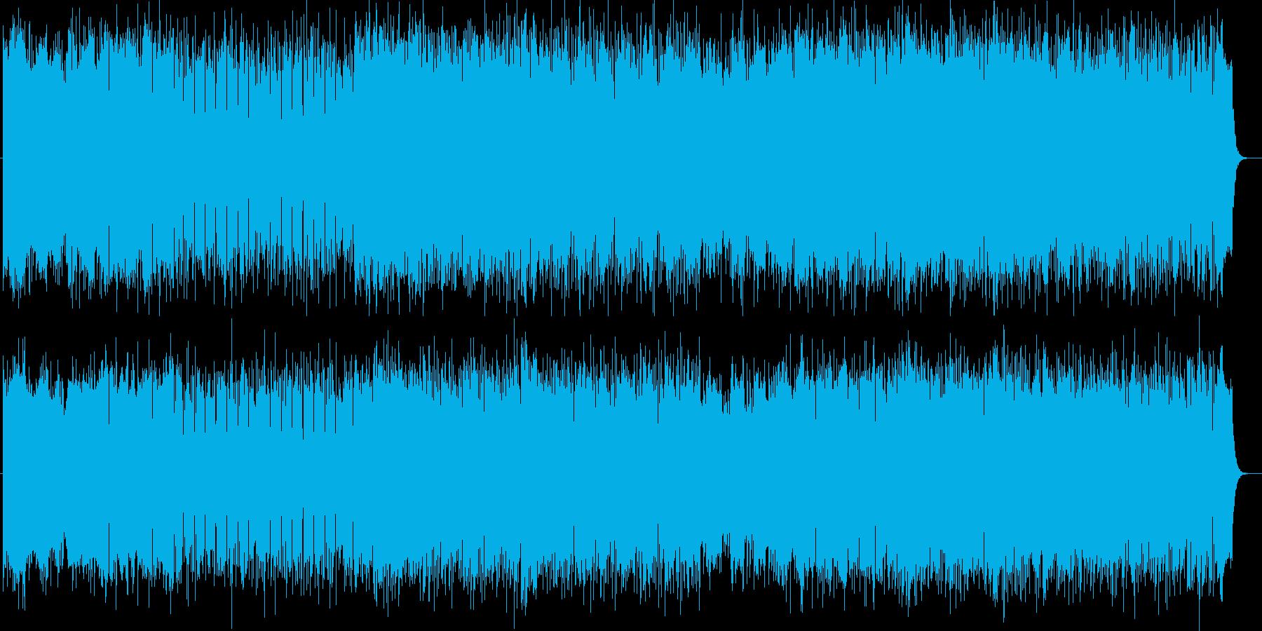 何かが始まる予感がするシンセポップの再生済みの波形