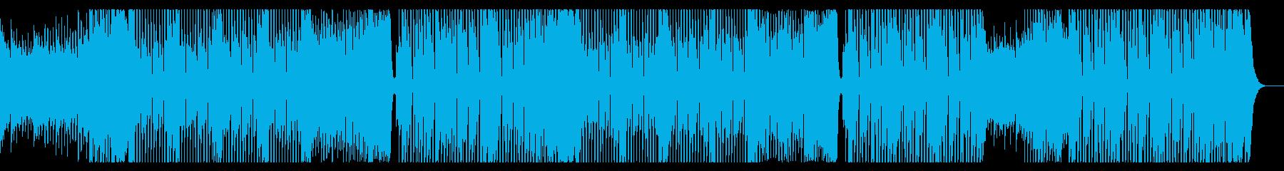 ワイルドでデジロックなダンス曲の再生済みの波形