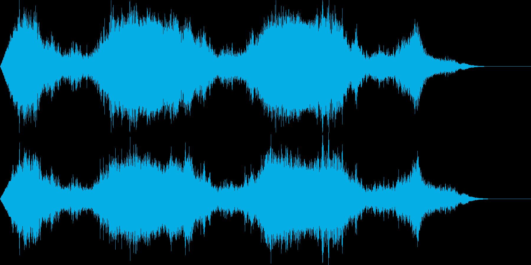 長めの魔法詠唱の再生済みの波形