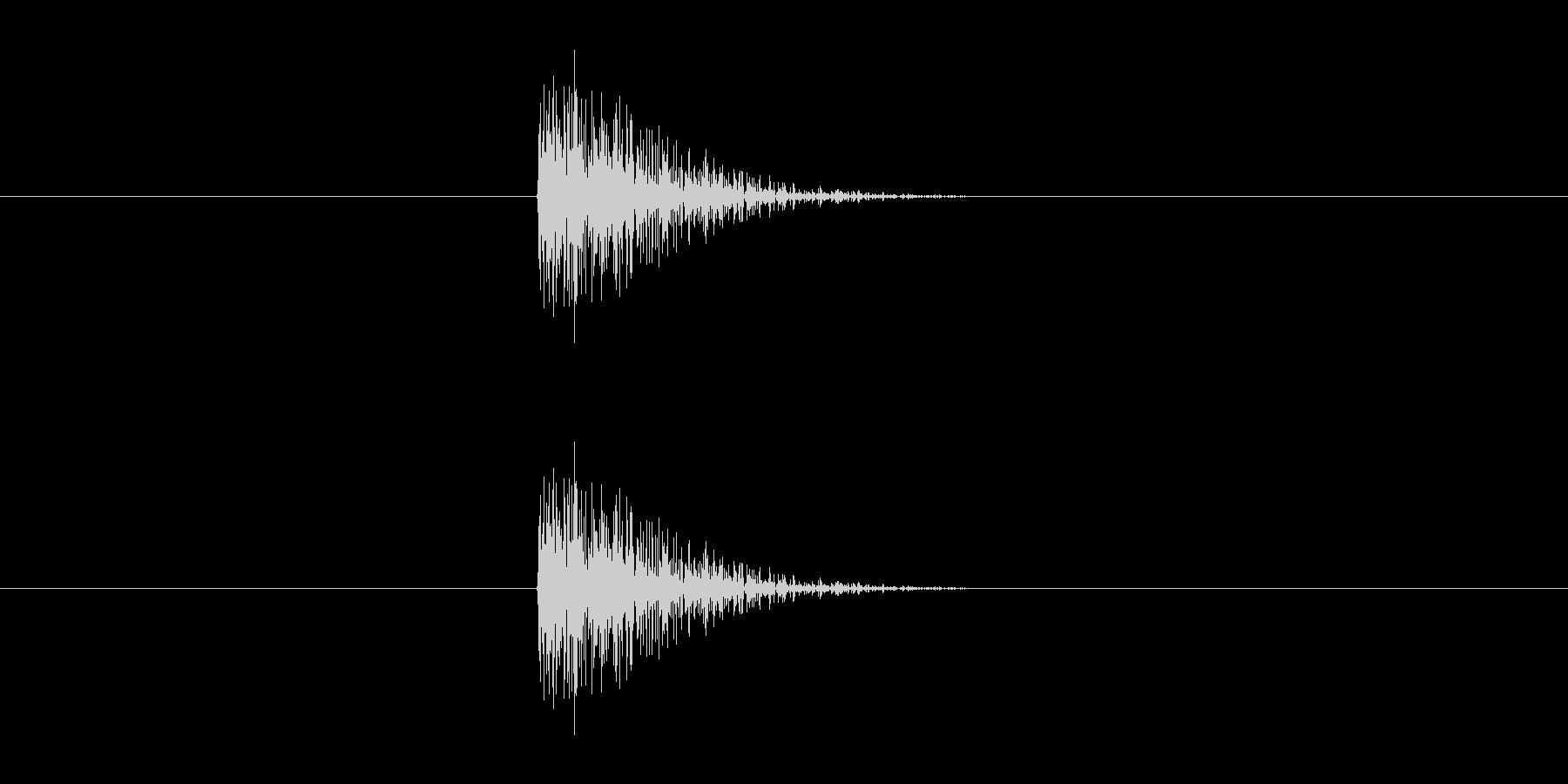 カン(鉱石などを掘る音)の未再生の波形