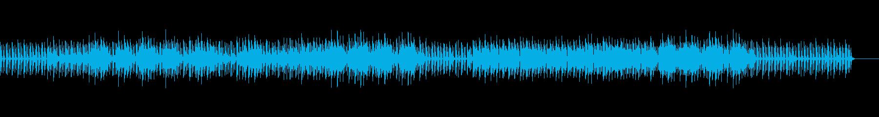 ビッグバンド風の少し抑えめなBGMの再生済みの波形