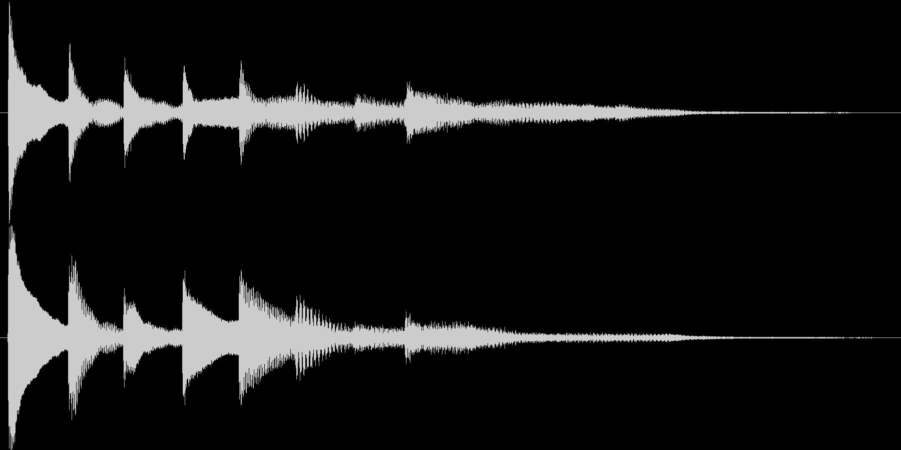 短いピアノ映像用ジングル7の未再生の波形