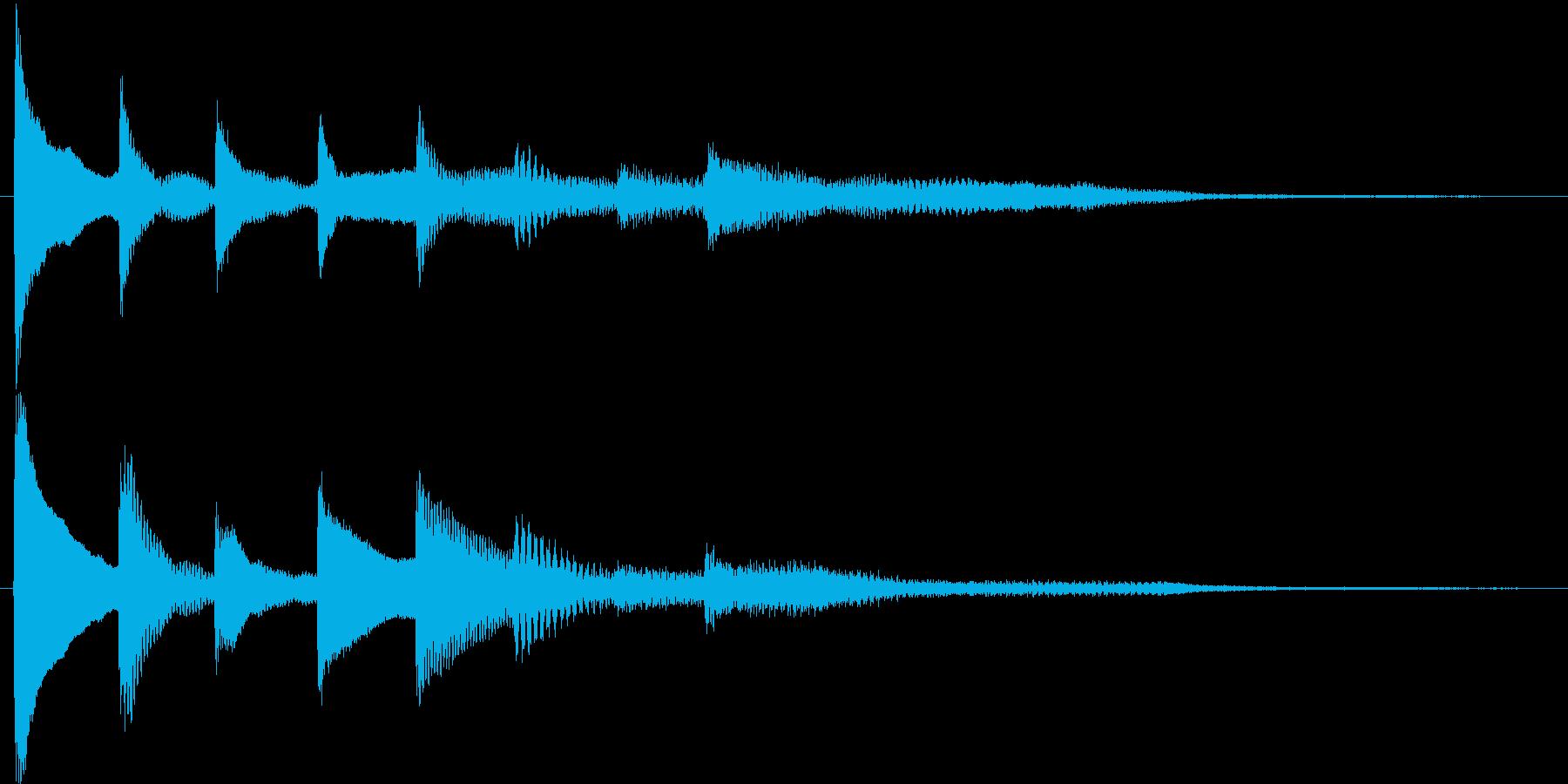短いピアノ映像用ジングル7の再生済みの波形