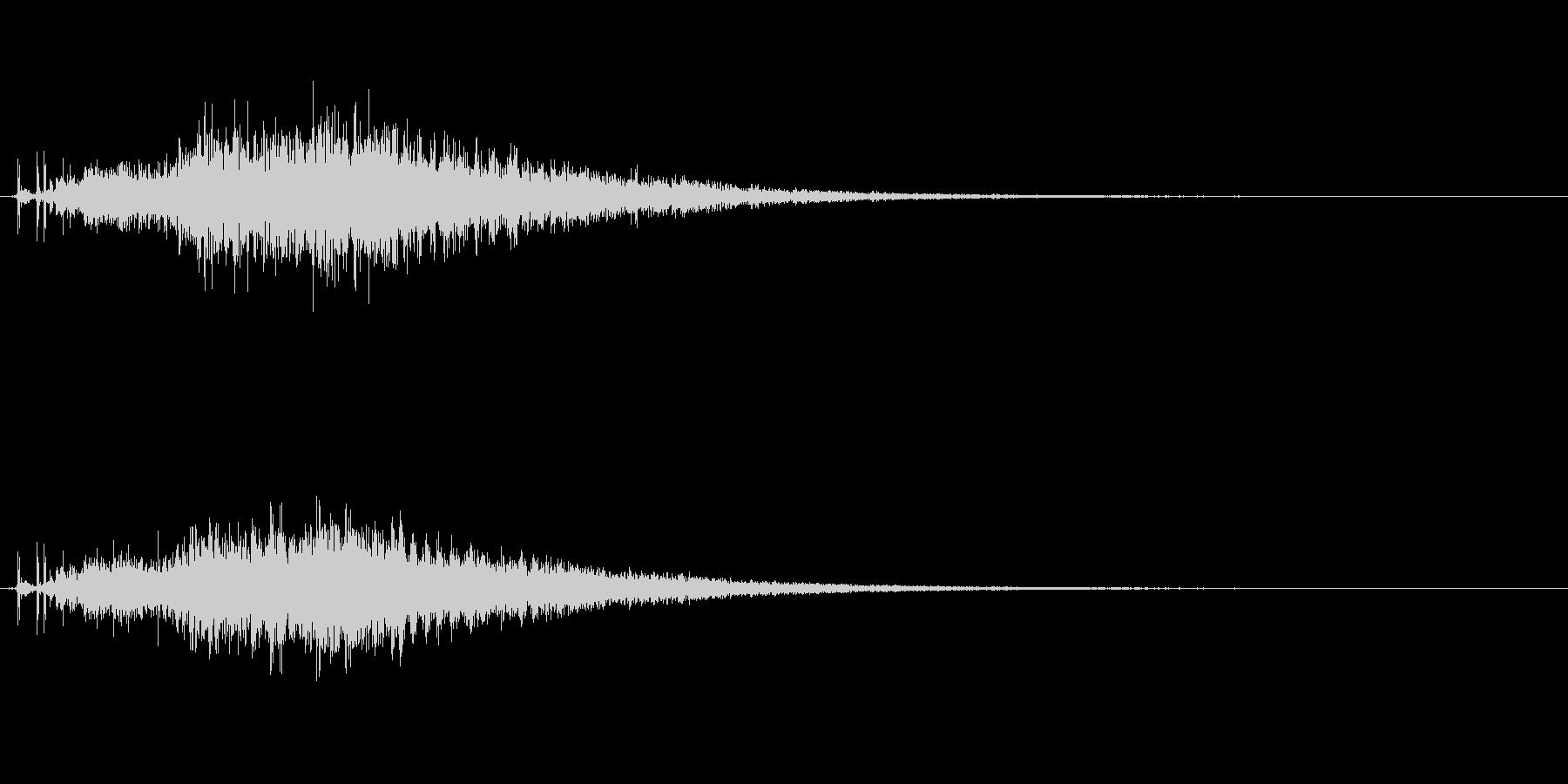 宇宙っぽい電子音1の未再生の波形