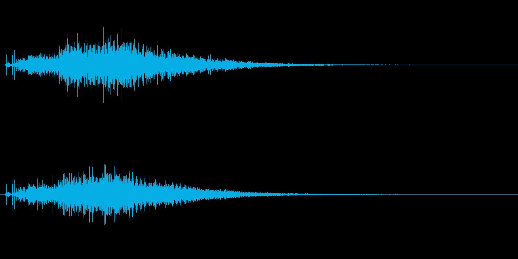 宇宙っぽい電子音1の再生済みの波形