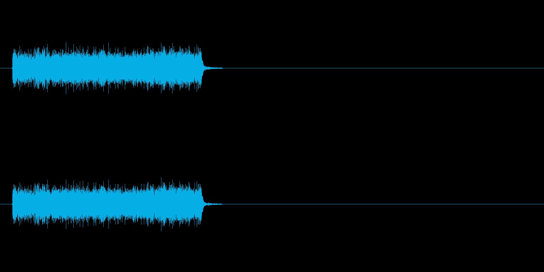 ロック曲等に使えるエレキギター効果音1の再生済みの波形
