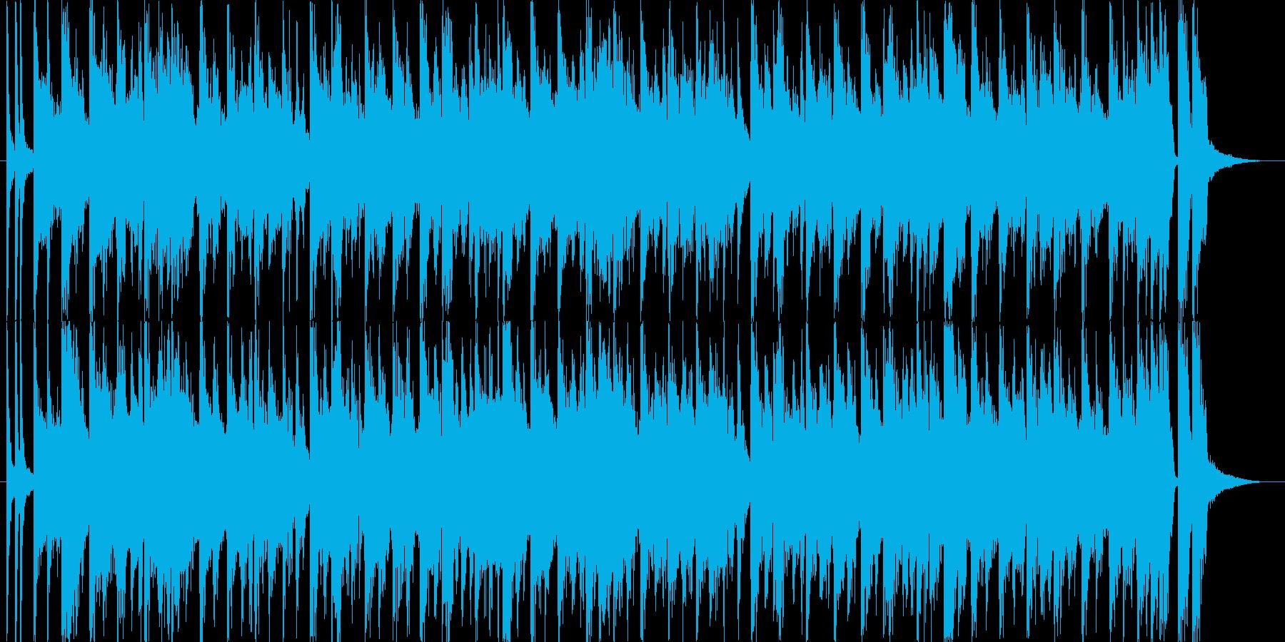 ハッピーな雰囲気のジングルの再生済みの波形