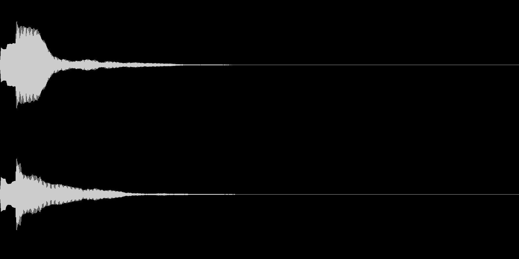 決定音69_シンセAIの未再生の波形