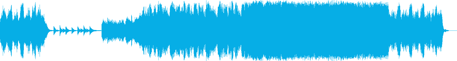 朝露をイメージしたサウンドトラックの再生済みの波形