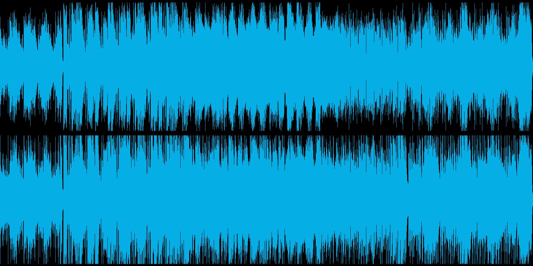 爽やかなケルト風BGMの再生済みの波形