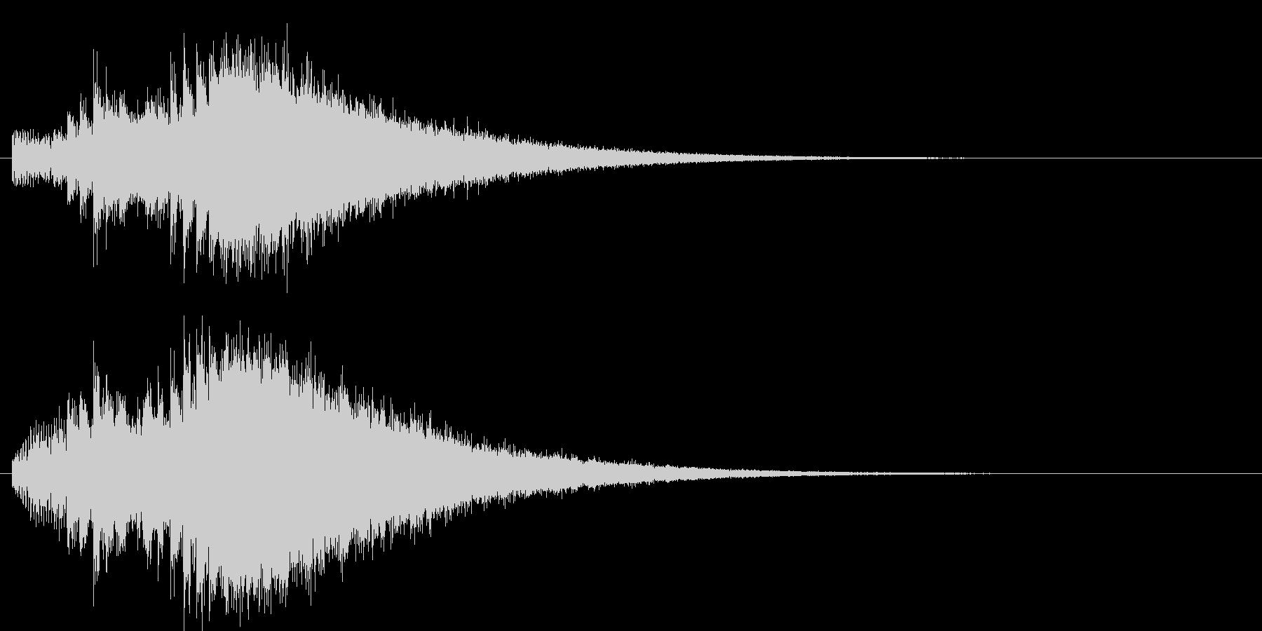 神秘的な上昇系の効果音の未再生の波形
