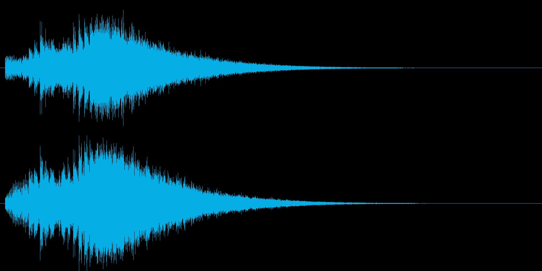 神秘的な上昇系の効果音の再生済みの波形