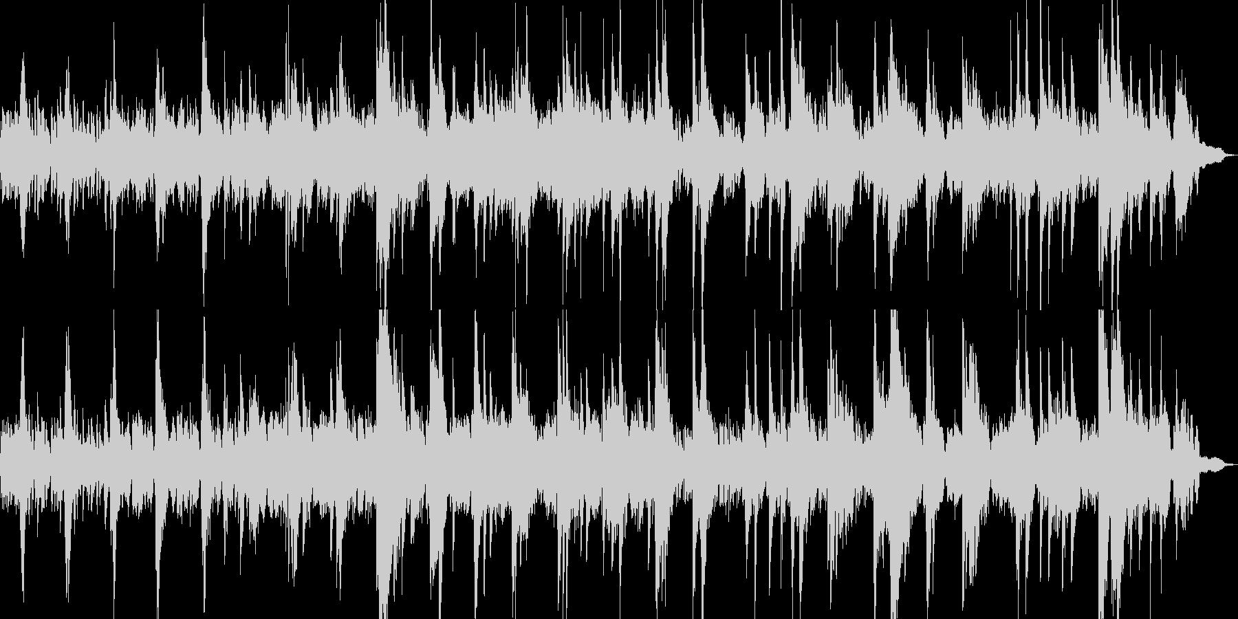 ピアノとシンセビートのアンビエントの未再生の波形