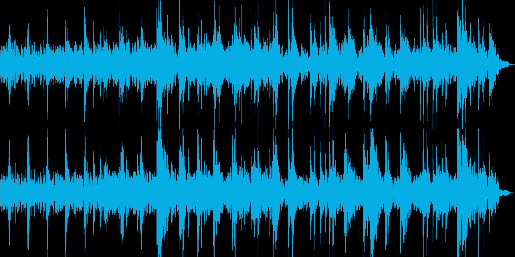 ピアノとシンセビートのアンビエントの再生済みの波形