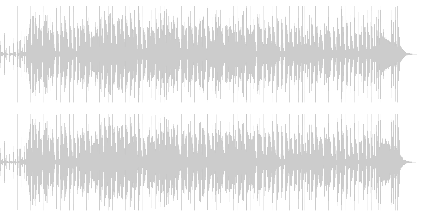 ノリノリのファンクの未再生の波形