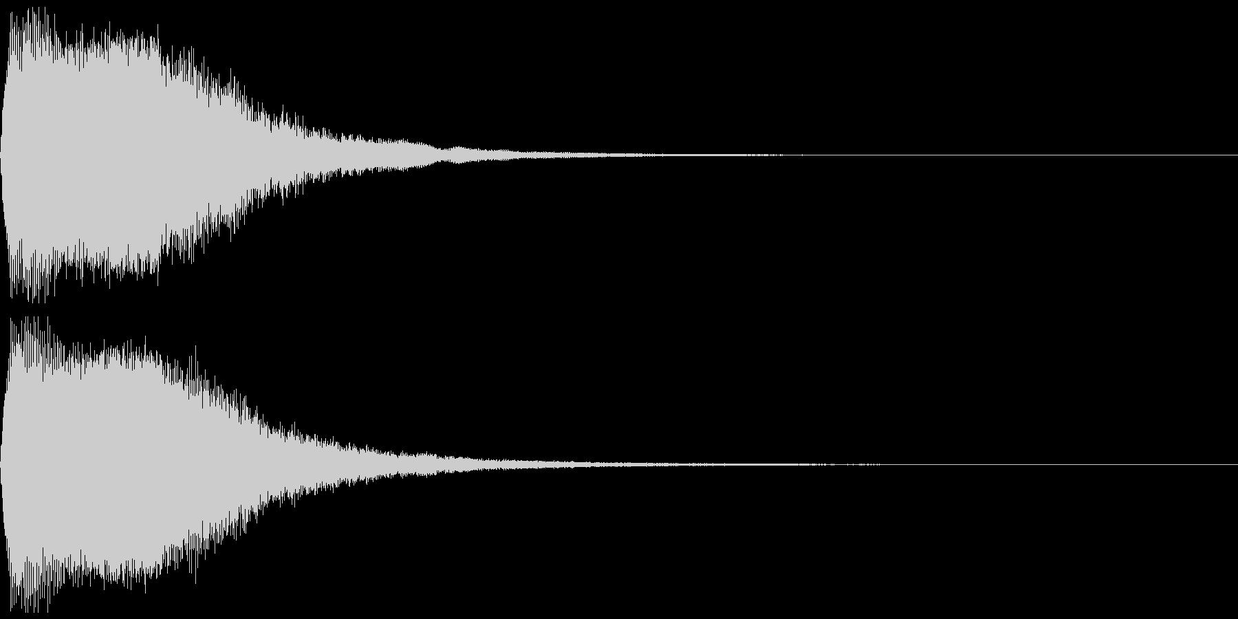ワープ音の未再生の波形