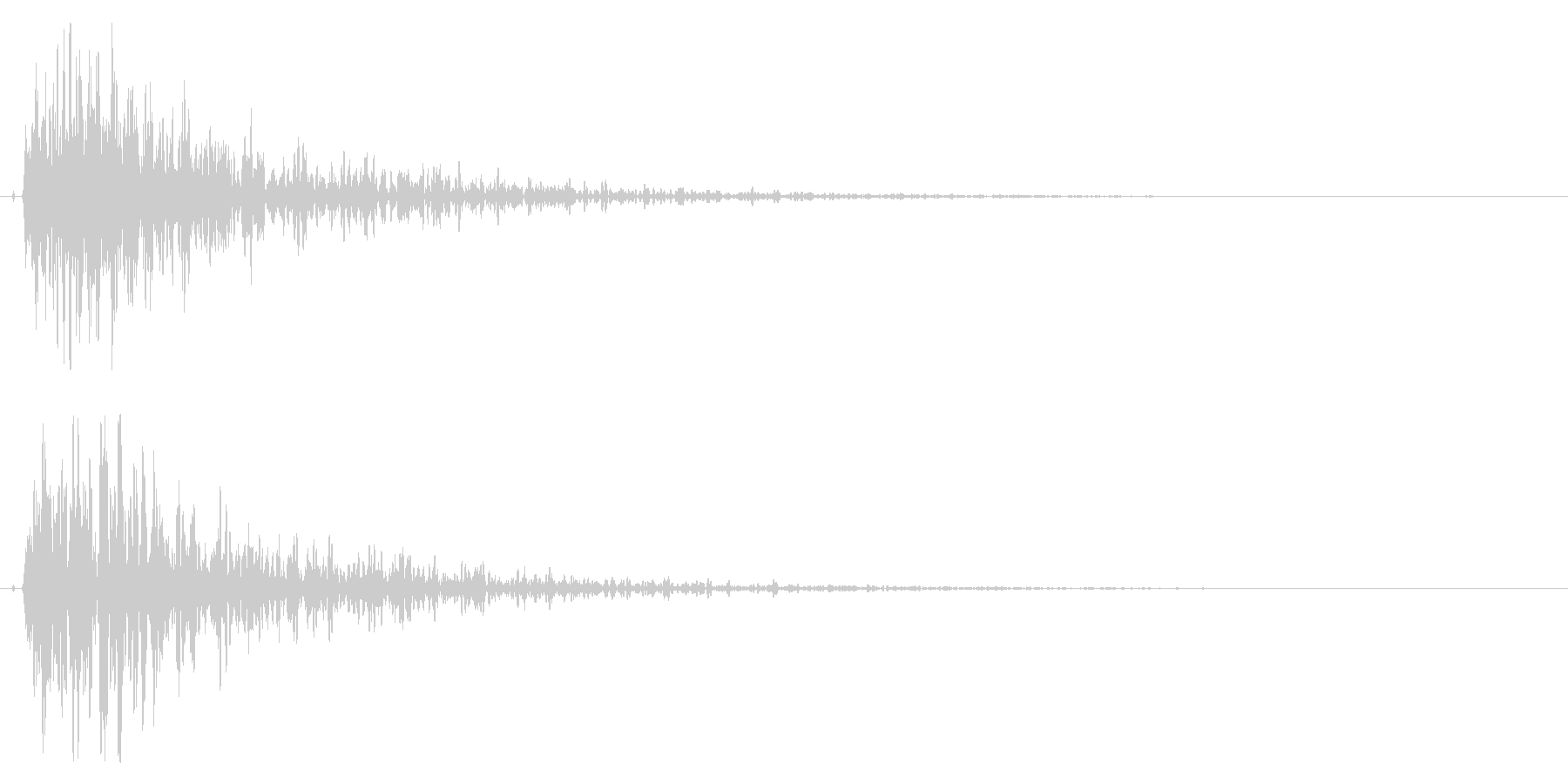 インパクトのある爆発/サウンドロゴに!の未再生の波形