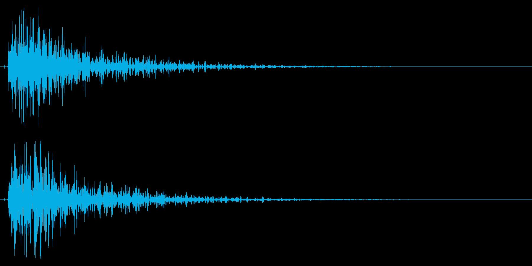 インパクトのある爆発/サウンドロゴに!の再生済みの波形
